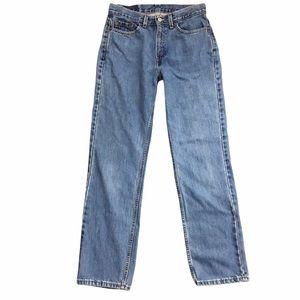 Vintage Levi's 505 Y2K Lower Rise Straight Leg Medium Wash Jeans Size 10 Misses